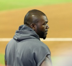 Big Papi watches Youk at the plate
