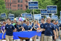 Elizabeth Warren for Senate Marches with HRC