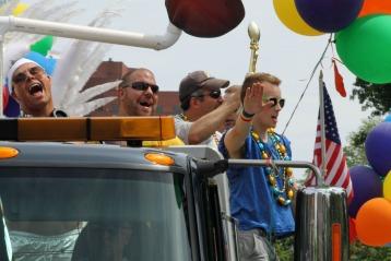 Gay Flag Football Float 2