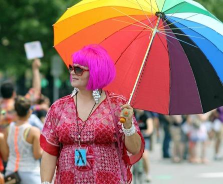 Giant gay umbrella