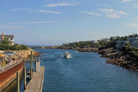 Boat in the Waterway-Perkins Cove