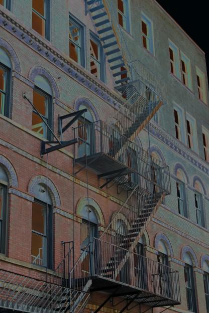 Fire Escape-Downtown Portland-Solarize