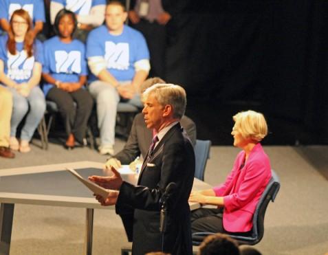 Moderator David Gregory