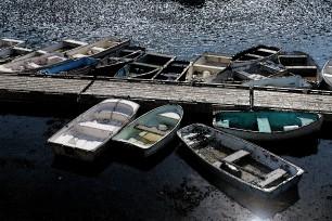 Rowboats-Perkins Cove-Watercolors
