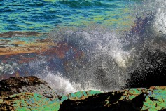 Spraying Waves-Marginal Way-Solarized