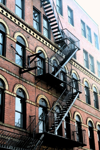 Fire Escape-Downtown Portland-Sumi E