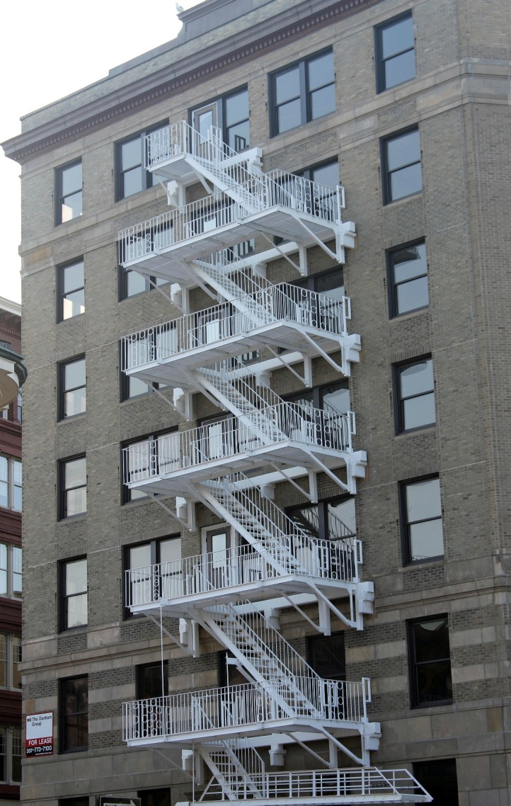 White Fire Escape 2-Downtown Portland
