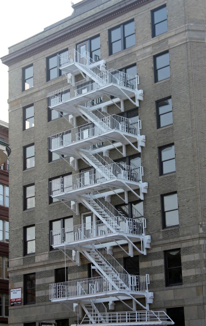 White Fire Escape 2-Downtown Portland