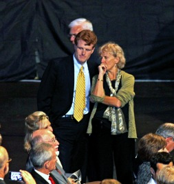 Joe Kennedy III, who later went on to win the open seat left by retiring Barney Frank, was at the Brown-Warren Debate