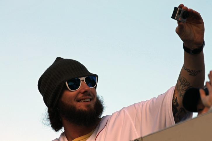 Jarrod Saltalamacchia, Red Sox Rolling Parade, November 2, 2013