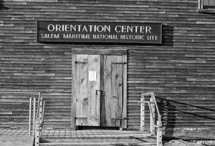 Salem Maritime Orientation Center, Black & White View