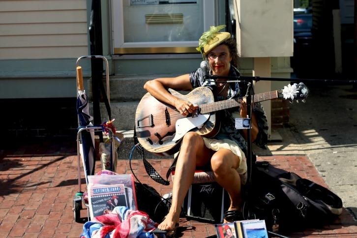 Marcia Mello, Street Minstrel, Provincetown, Massachusetts