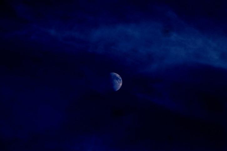 Rising Moon Over Provincetown, Massachusetts