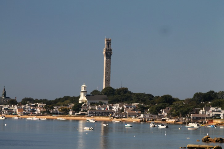 View of Pilgrim Monument, Provincetown, Massachusetts