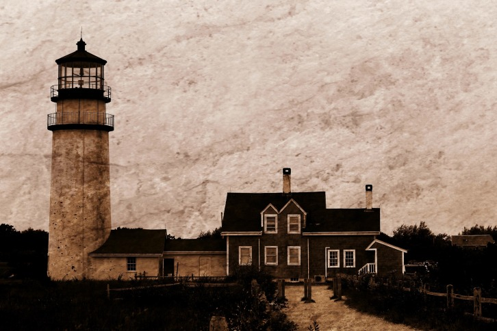 Cape Cod Highland Light, Truro, Massachusetts (Sepia with Texture)