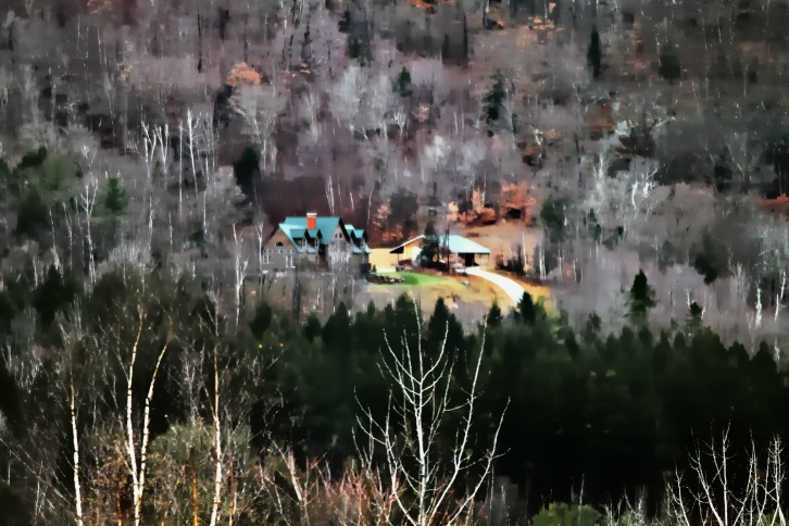 Mountainside Retreat, Somewhere in Vermont (Water Color Vectors)