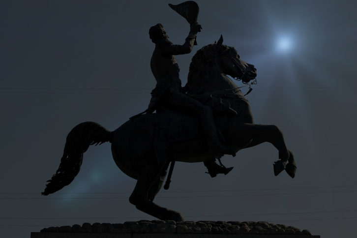 Andrew Jackson by Moonlight, Jackson Square, New Orleans