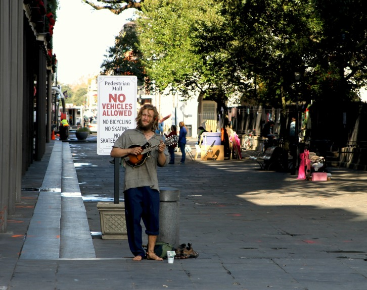 The Street Minstrel, Jackson Square, New Orleans