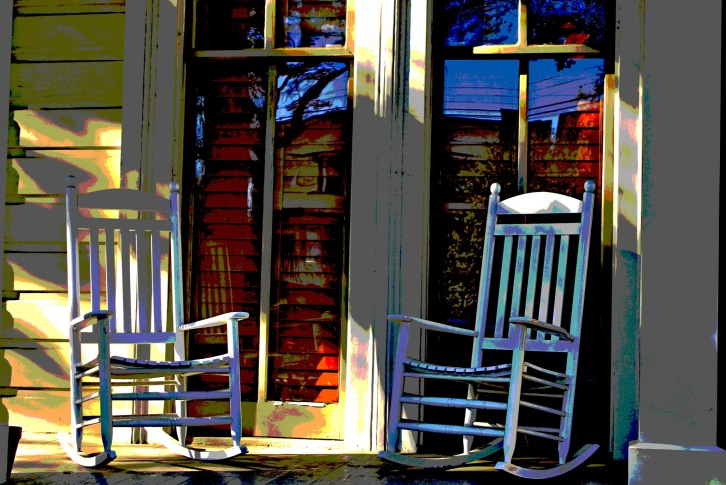 Garden District Rocking Chairs, New Orleans
