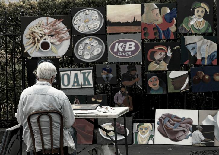 Street Artist, Jackson Square, New Orleans