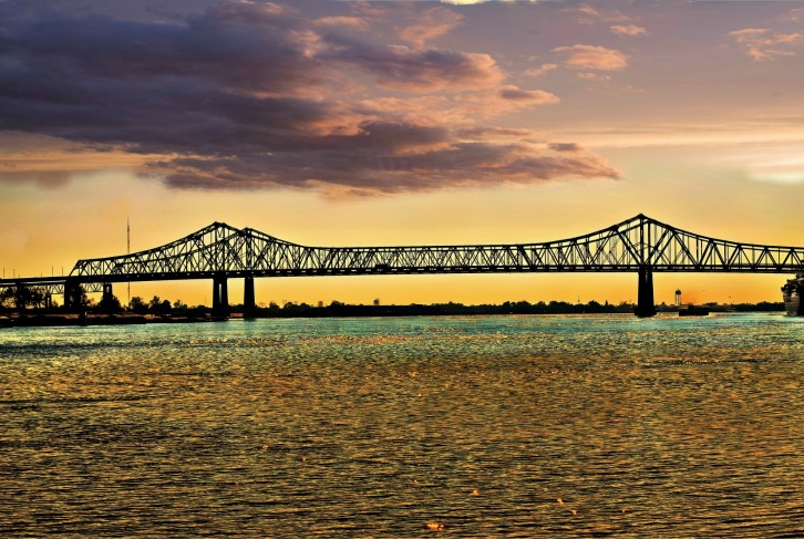 Mississippi Sunset, New Orleans