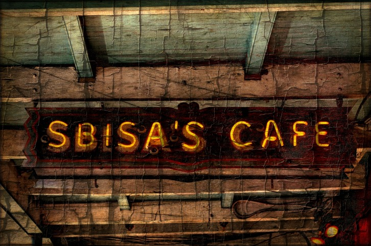 Sbisa's Cafe Sign, New Orleans