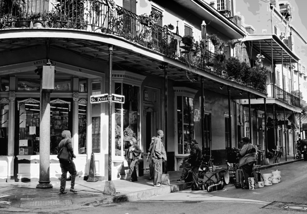street scene no 7 the french quarter new orleans stop look shoot. Black Bedroom Furniture Sets. Home Design Ideas