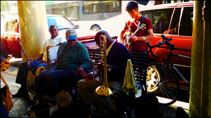 The Band in Jackson Square, New Orleans