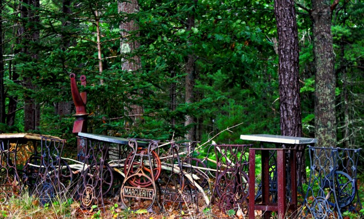 Discarded Sewing Machines, Wells, Maine