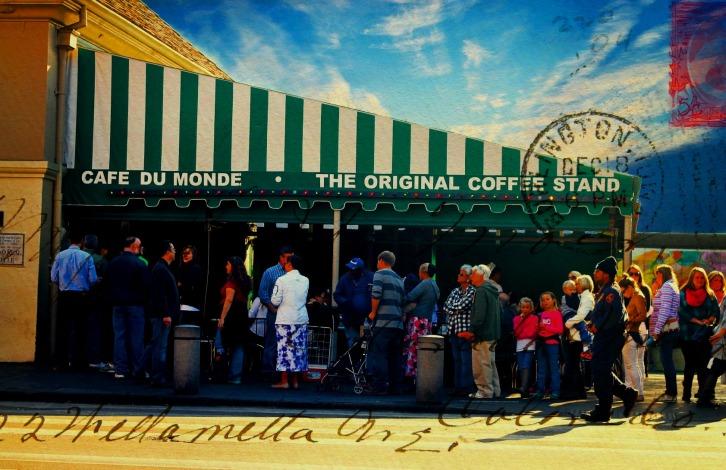 Cafe du Monde 1 Envelope Texture