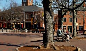 Morning in Market Square, Newburyport, Massachusetts