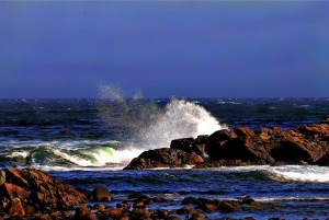 Breaking Waves, Marginal Way, Maine