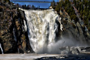 View of Montmorency Falls, Quebec