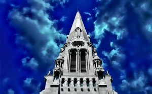 The Steeple at Saint Anne de Beaupre Basilica, Quebec