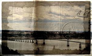 Bridge to Ile D'Orleans, Postcard Effect