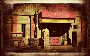Mission Oak Grill, Colorful Grunge