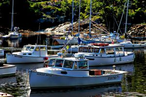 Docked in Perkins Cove, Maine