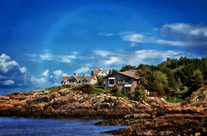 Living On the Shore Line, Perkins Cove, Maine