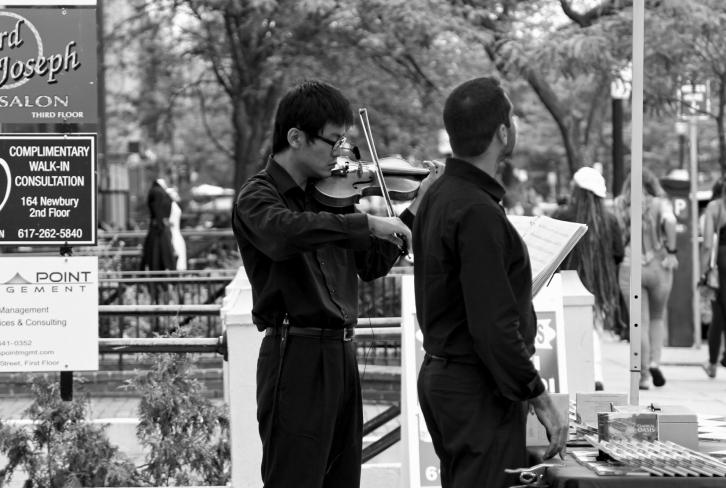 Classical Music on Newbury Street, Boston, MA