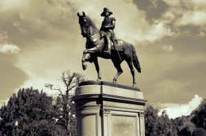 George Washington, Boston Public Gardens