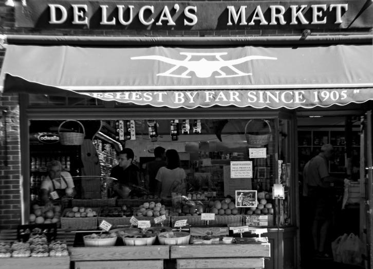 Inside DeLuca's Market, Charles Street, Boston
