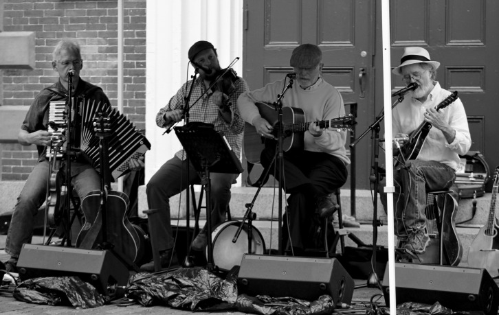 Street Band-Portrait B&W